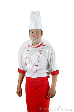 Aziatisch chef-kokportret