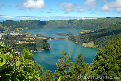 Azores cidades das lagoa Portugal sete