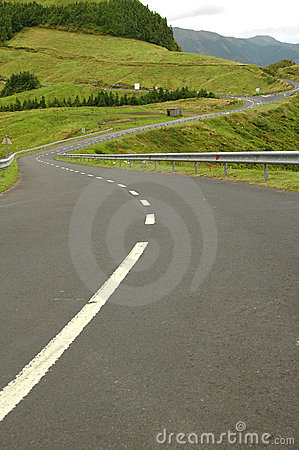 Free Azores Island Landscape With Curvy And Windy Roads Royalty Free Stock Photography - 2091577