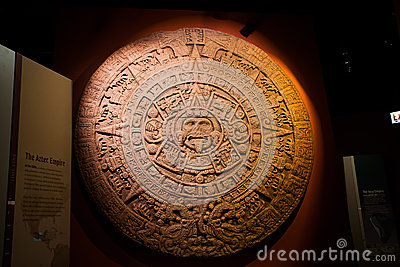 The Aztec Sun Stone at Field Museum  Editorial Photography