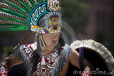 Aztec Dancer Editorial Stock Photo