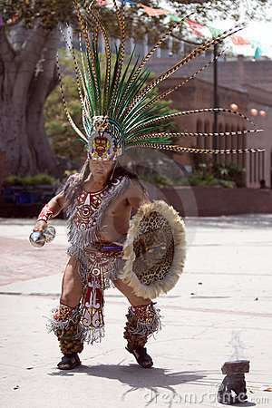 Aztec Dancer - Fire Dance Editorial Photography