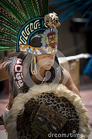 Aztec Dancer - Olvera St Los Angeles Editorial Stock Photo