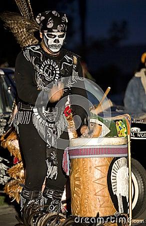 Free Aztec Drummer 4 Royalty Free Stock Photos - 4247268