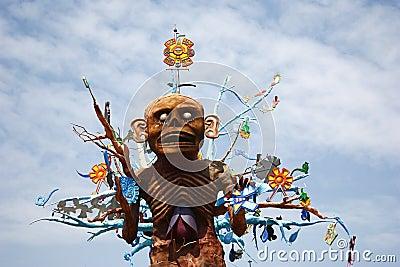 Aztec god Mictlantecuhtli