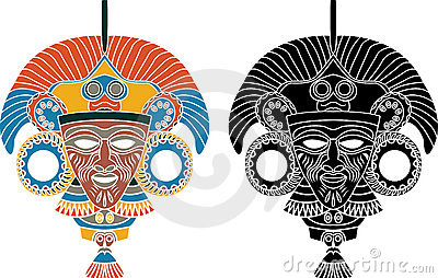 Aztec mask stencil royalty free stock photo image 15926805 for Aztec mask template