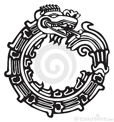 Free Aztec Maya Dragon - Great For Tatto Art Royalty Free Stock Image - 8410286