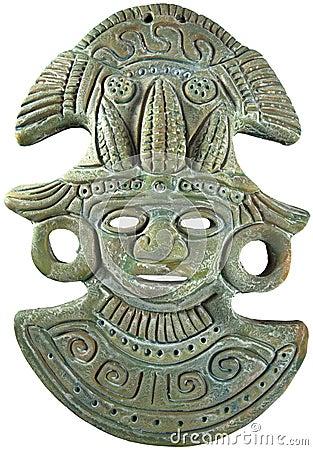 Aztec Mayan Maize God Mask Mexico Royalty Free Stock