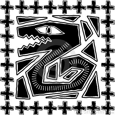 Aztec Serpent Design