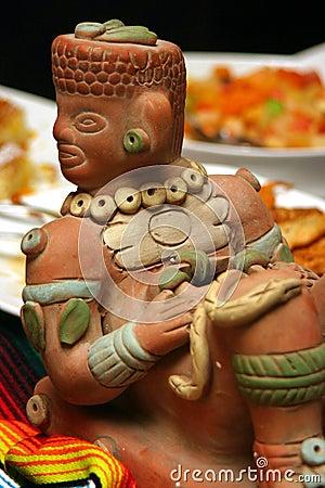 Aztec statue