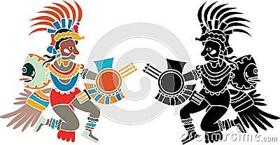 Aztec stencil
