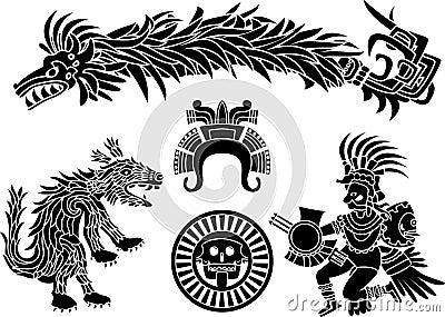 Aztec stencil set
