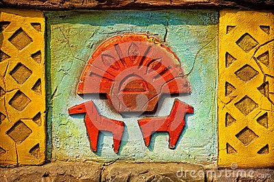Aztec style wall decoration
