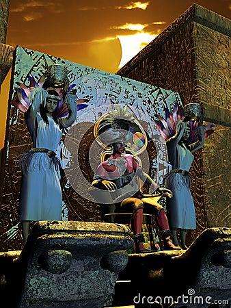 Aztec sun adoration