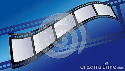 Azul da ilustração da película