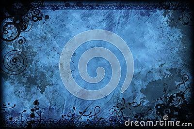 Azul floral de la vendimia
