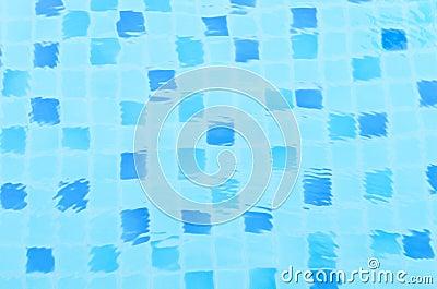Azulejo azul del aqua en agua imagen de archivo imagen for Azulejos color azul