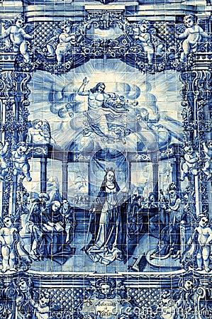 Azulejos on capela das almas in porto portugal stock photos image 30247023 - Azulejos roman ...