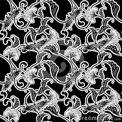 Azulejo que relanza blanco y negro adornado fotos de - Azulejo negro ...