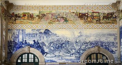 Azulejo at São Bento Railway Station, Porto, Portugal