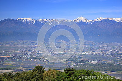 Azumino city and Japan Alps