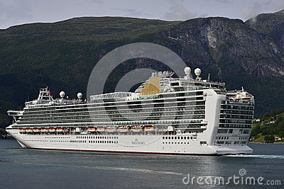 Azura cruise ship in Norway Editorial Photography