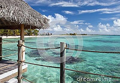 Azure lagoon of island
