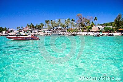 Azure lagoon in Thailand