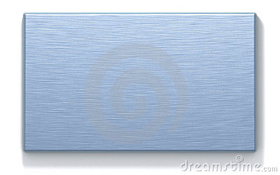 Azure metal rectangular plate