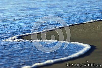 Azure ocean shore