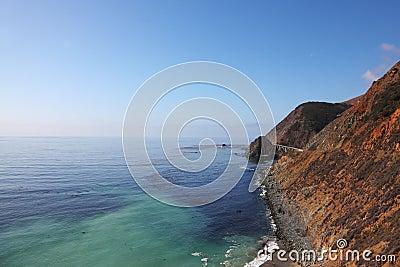 Azure ocean surf on the Pacific Ocean