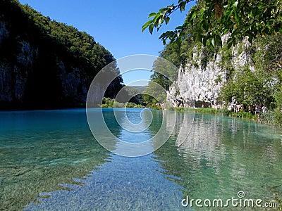 Azure Plitvice lakes