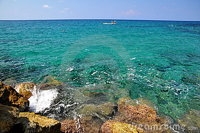 Azure sea in Cyprus