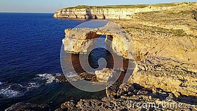 Azure Window, Gozo Malta - Hommellengte stock videobeelden