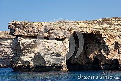 Azure Window on island Gozo