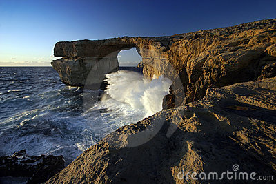 Azure Window at Sunset, Gozo Island, Malta