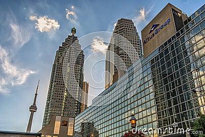 Bâtiments du centre de Toronto Image stock éditorial