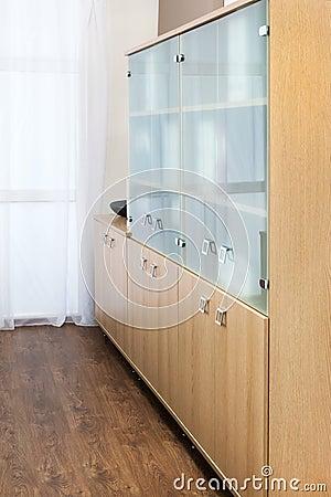b cherschrank mit glast ren stockfoto bild 38839471. Black Bedroom Furniture Sets. Home Design Ideas