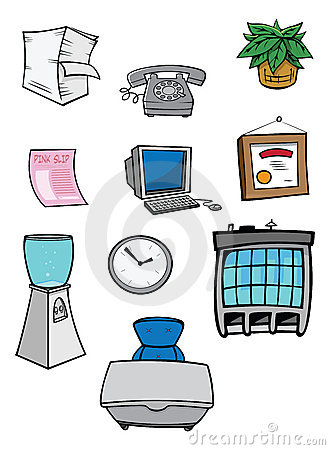 Büromaterial clipart  Büromaterial Lizenzfreie Stockfotografie - Bild: 17516357