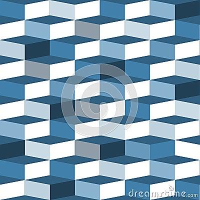 Błękitny bezszwowy pudełko wzór