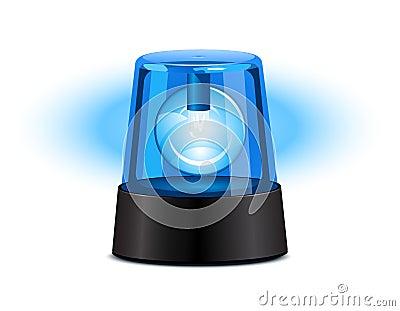 Błękitny rozblaskowy światło