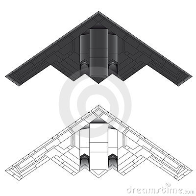 B-2 stealth bomber vector illustration