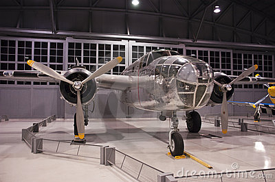 B-25 Mitchell Bomber EAA Museum Ohskosh Wisconsin Editorial Image