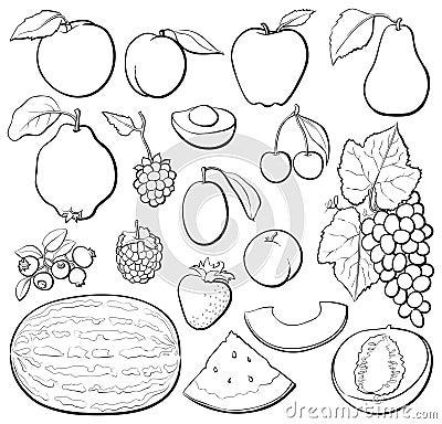 B&w ajustado da fruta