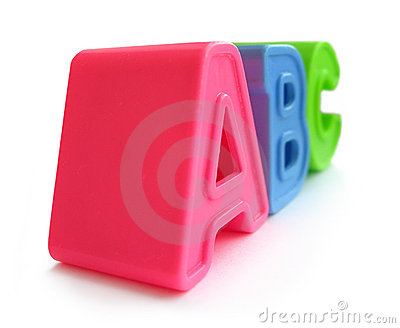 A, B, C letters - alphabet, literacy, education