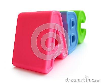 A, B, C letters - alphabet, literacy, education