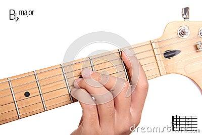 E Major Guitar Chord Tutorial Stock Photo - Image: 63777827