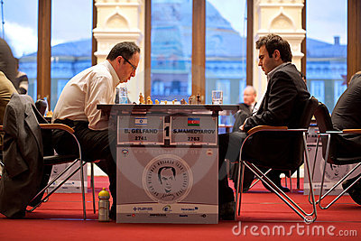 B.Gelfand and S.Mamedjarov play Editorial Stock Photo