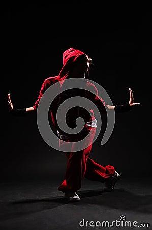B-girl dancing