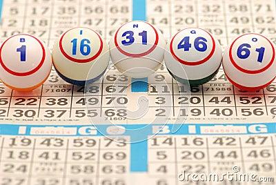 B-I-N-G-O Spelled Out on Bingo Card